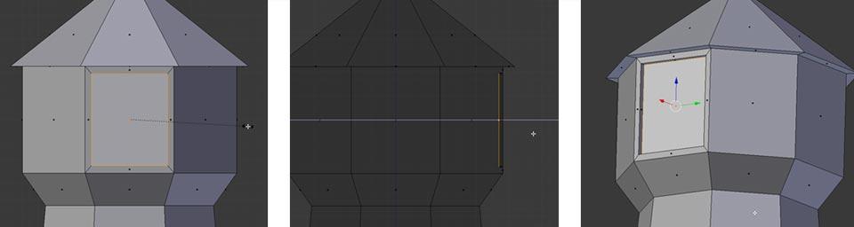 Ein Fenster durch Extrude modellieren