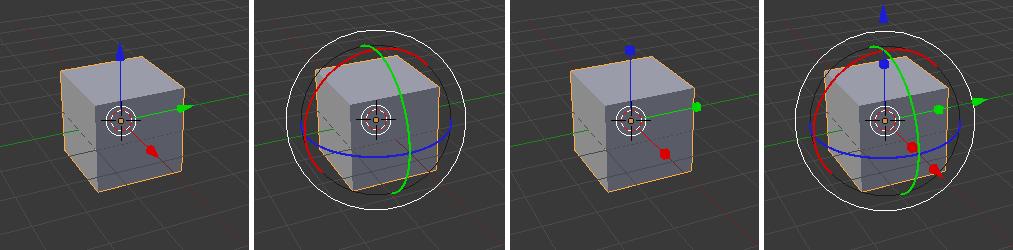 Die verschiedenen 3D-Widgets