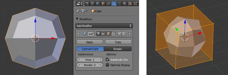 Subdivision Surface Modifier