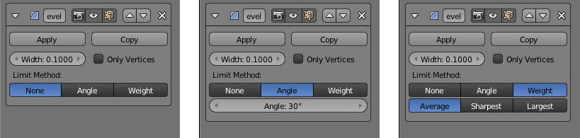 Die Limit Method Einstellungen None, Angle und Weight