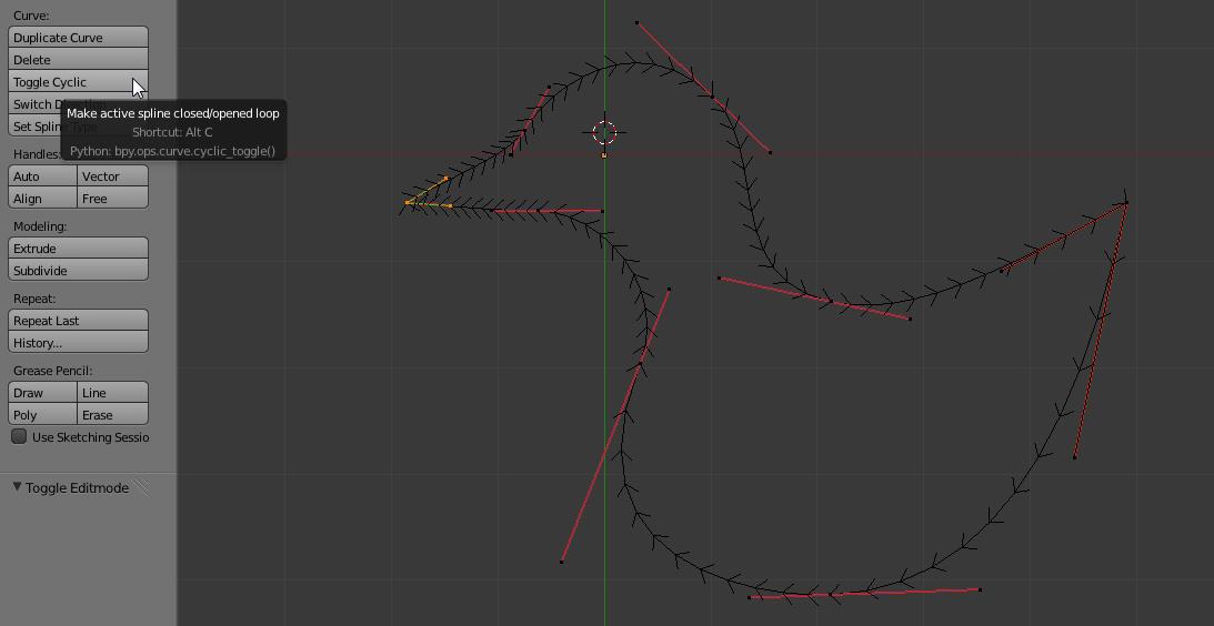 Die Kurve schließen