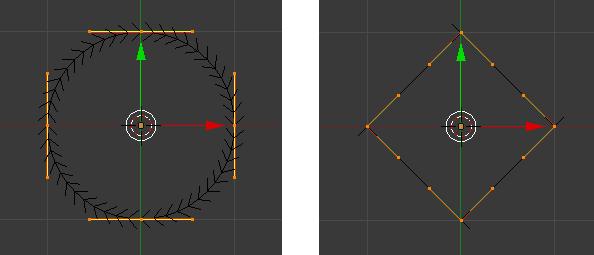 Aus einem Kreis eine Raute machen