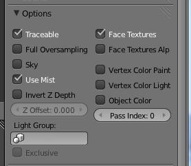 In den Material-Einstellungen unter Options vor Face Textures einen Haken setzen